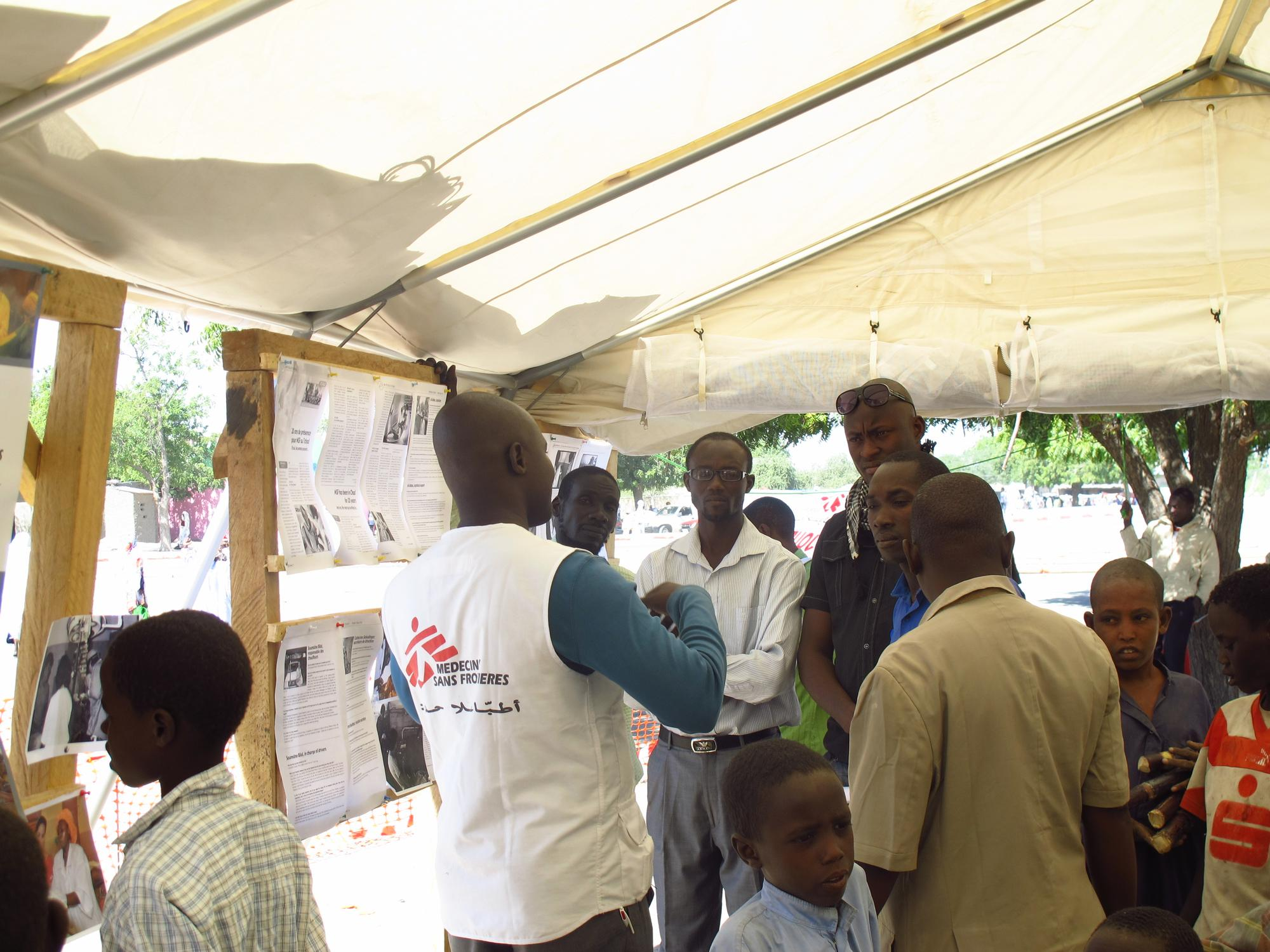 A Doctors Without Borders staff member at a local event to commemorate 30 years of activity in Chad.